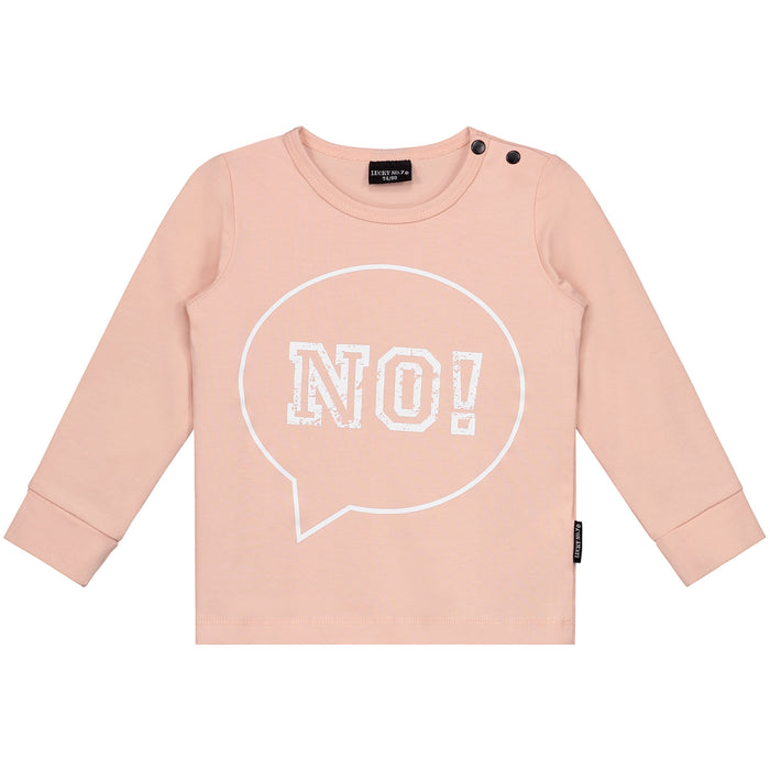 NO! BLUSH PINK LONGSLEEVE - Lucky No.7