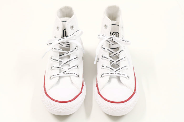 NO! CONVERSE SNEAKERS WHITE - Lucky No.7