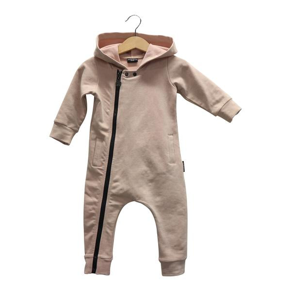 BLUSH PINK JOGDENIM ONESIE - Lucky No.7
