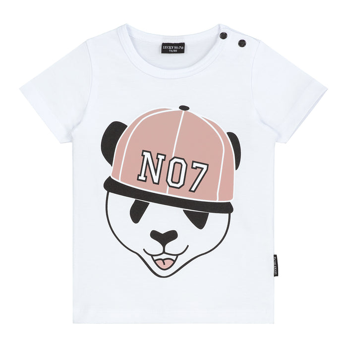 PANDA T-SHIRT GIRLS - Lucky No.7