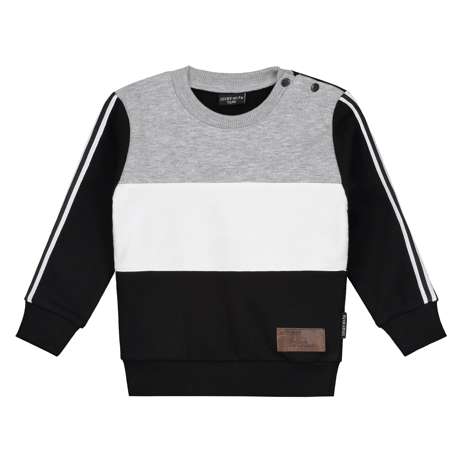 BASIC COLOURBLOCK SWEATER - Lucky No.7