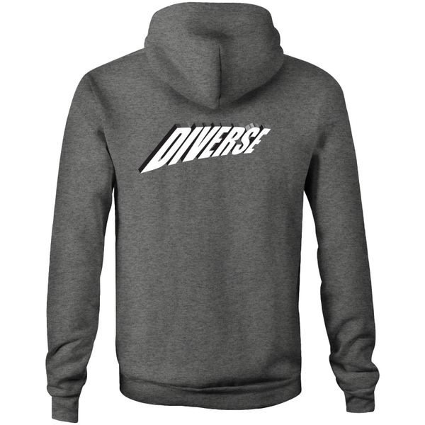 Diverse 3d - AS Colour Stencil - Pocket Hoodie Sweatshirt