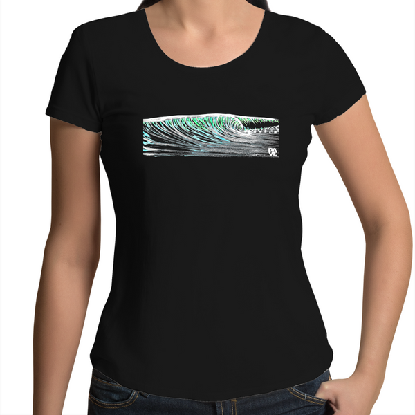 Wave drawn - AS Colour Mali - Womens Scoop Neck T-Shirt