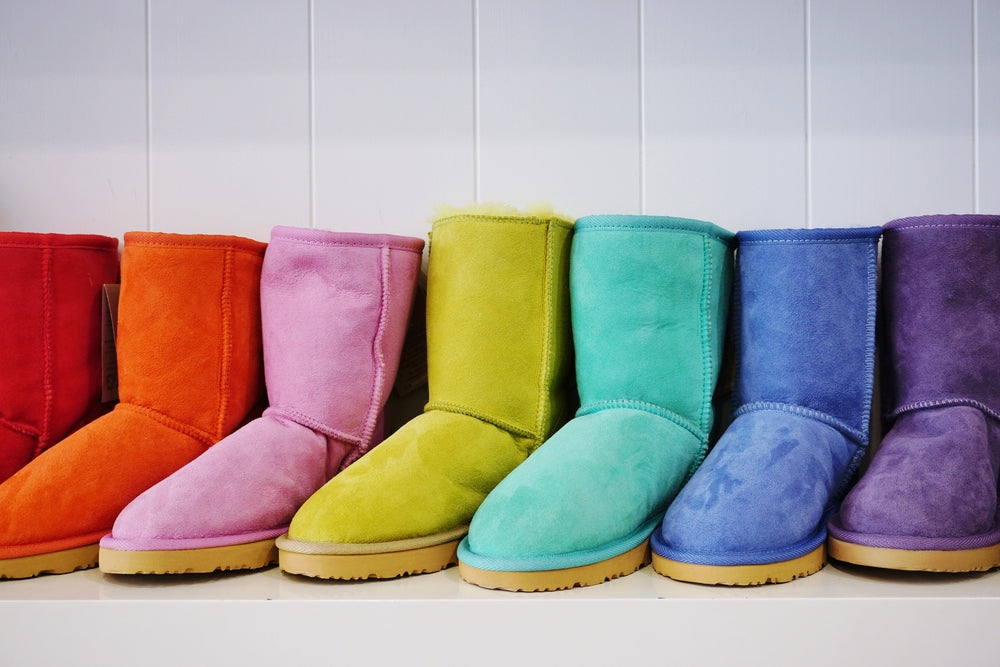 Matching coloured ugg boots to your outfit
