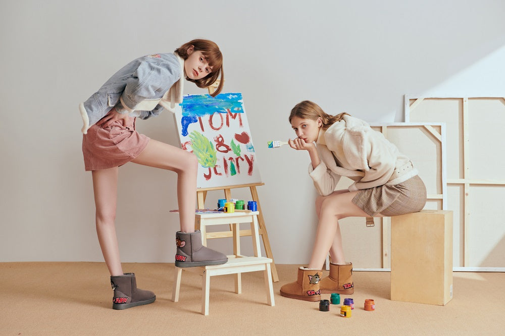 girls tom & jerry ugg boots
