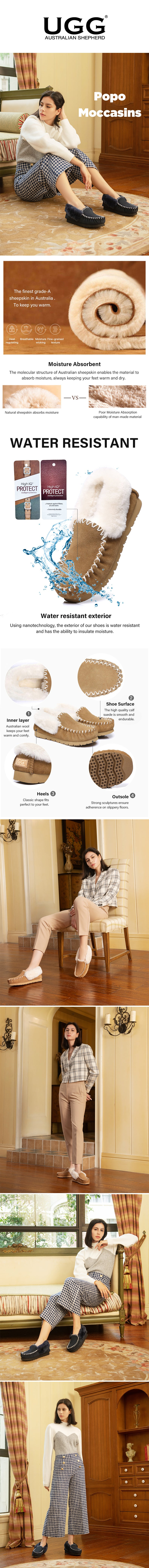 Sheepskin Slipper Popo Moccasins