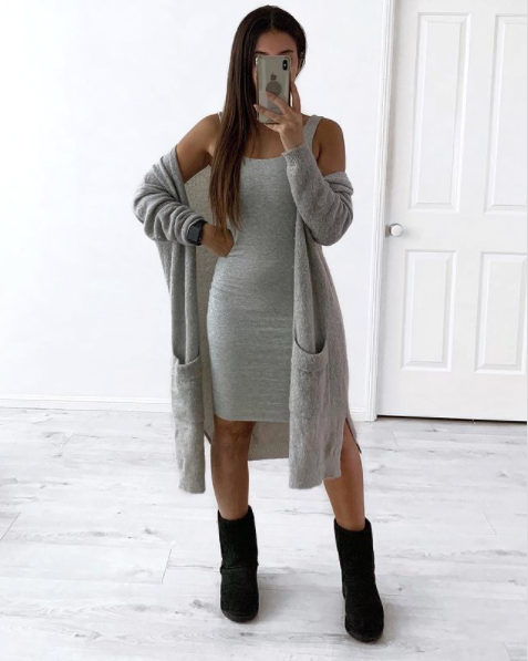 how to wear ugg boots with a dress