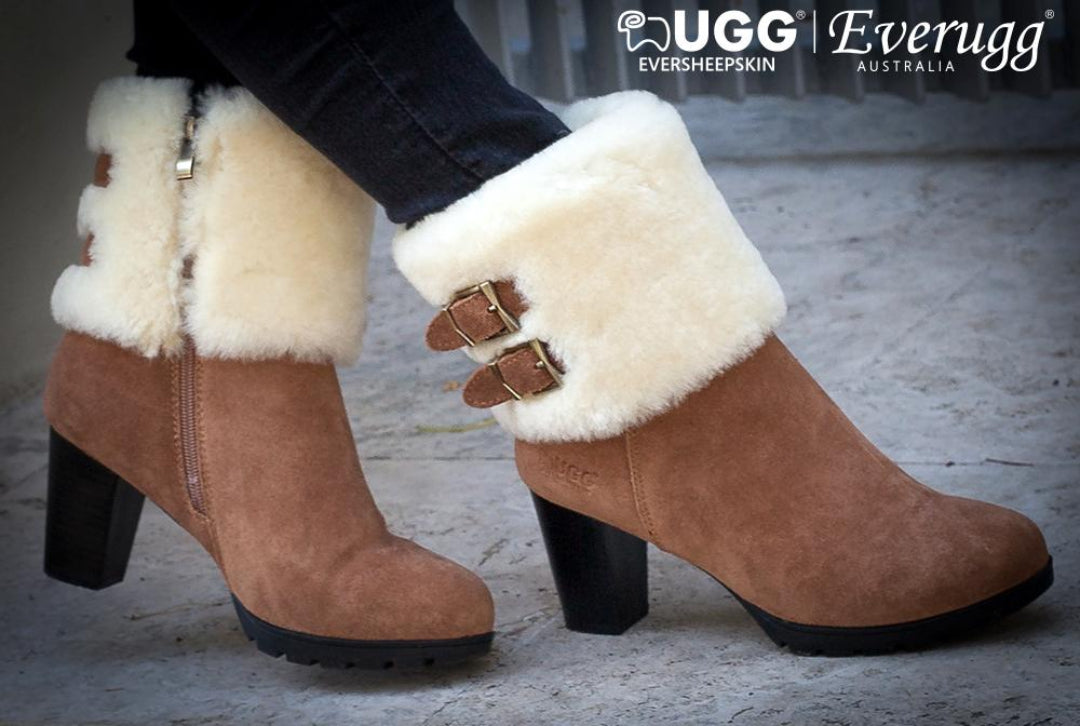 fashion ugg boots with heel