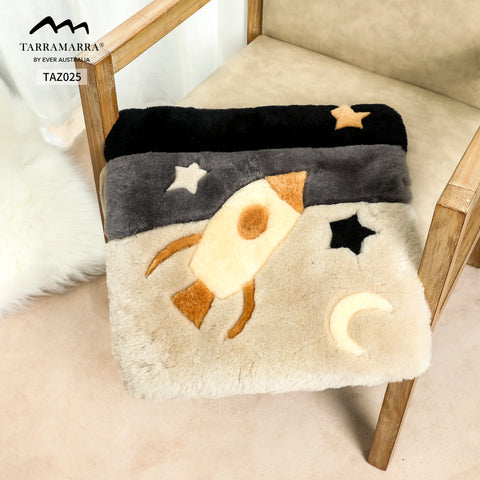 space themed rug for kids