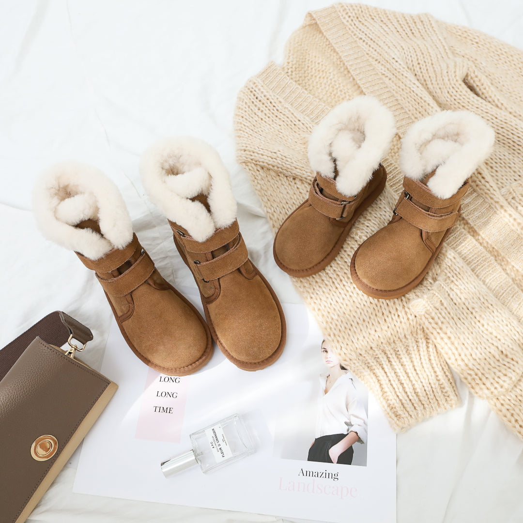 sheepskin boots for mum and bub