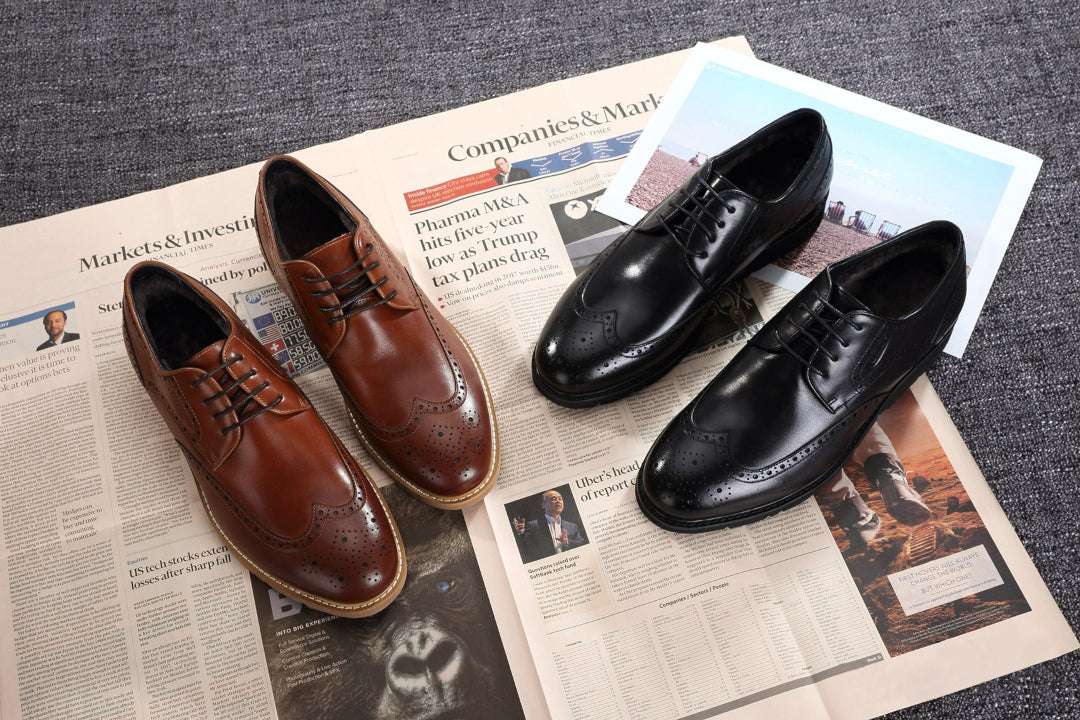 leather work shoes for men
