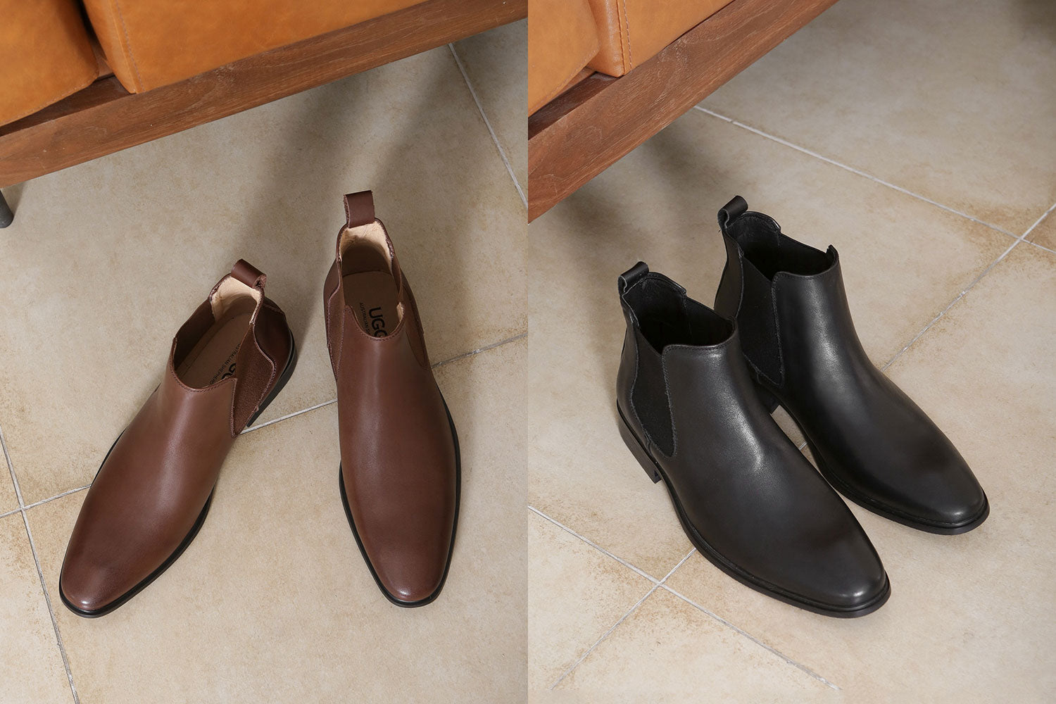 men's fashion boots in brown