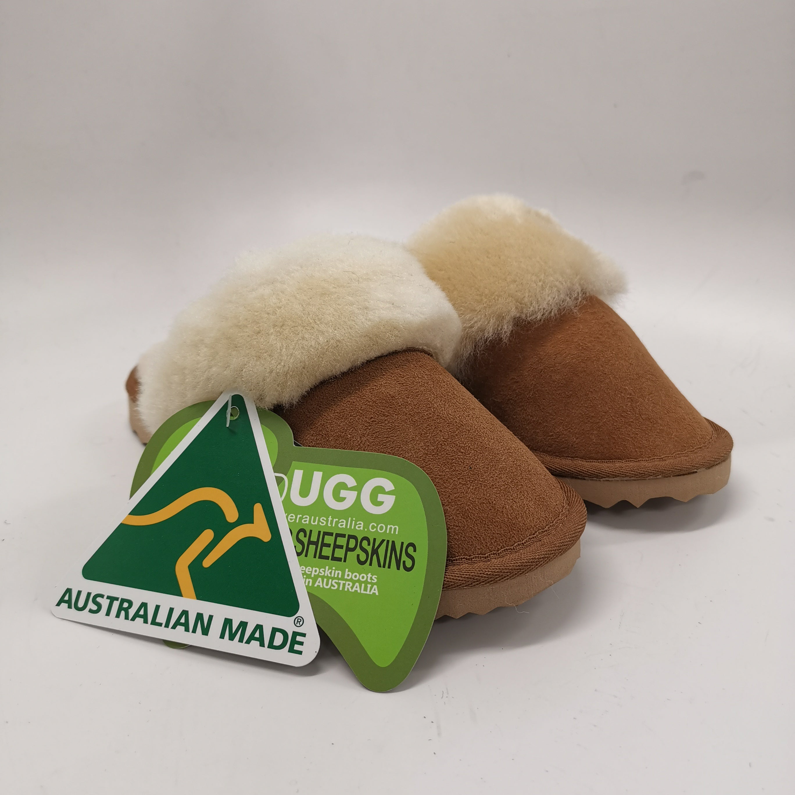 Australian Made Ugg Slippers Wool Collar Scuff