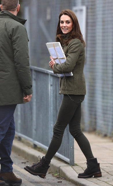 kate middleton wearing logger boots