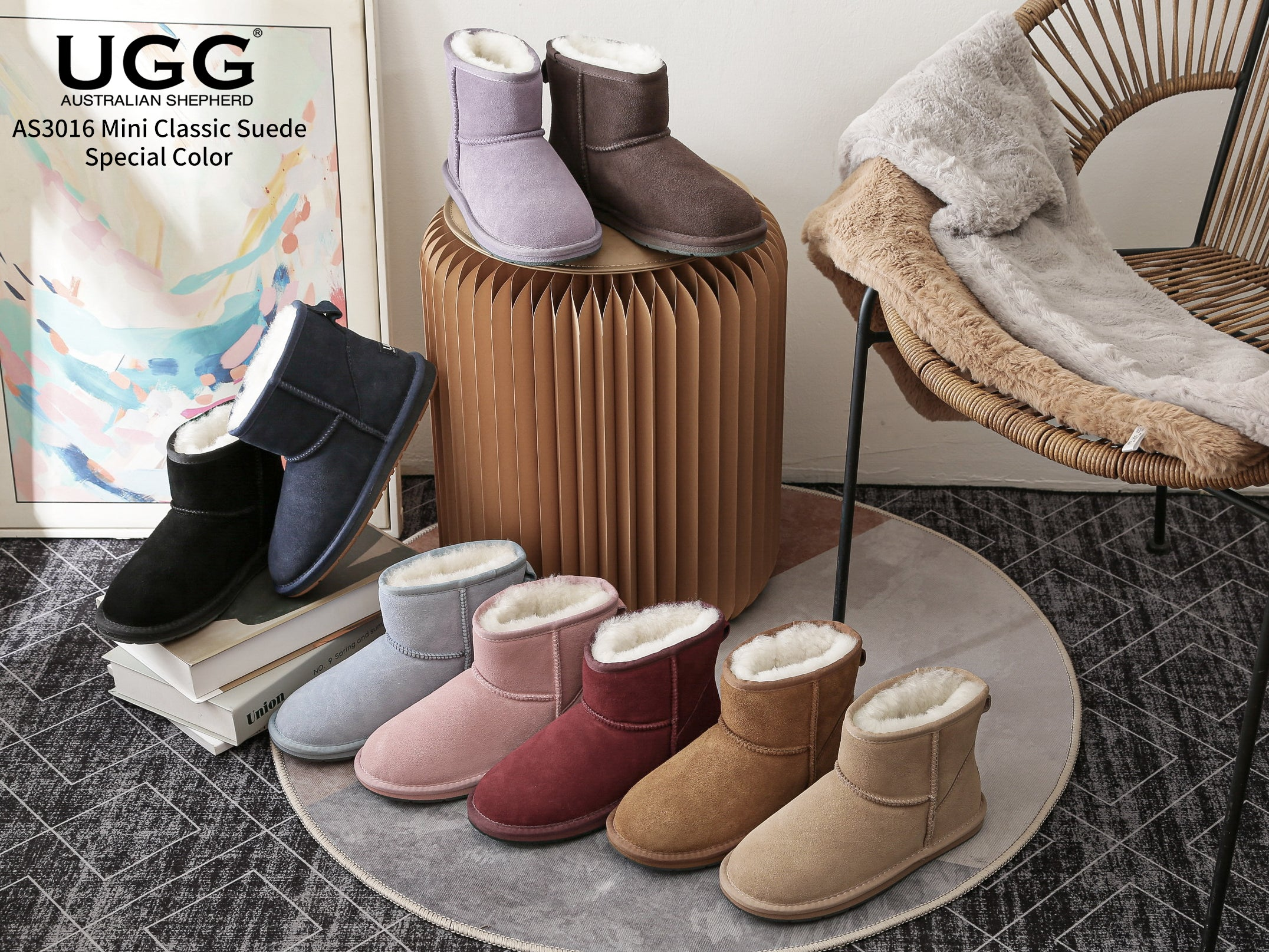 black suede mini ugg boots