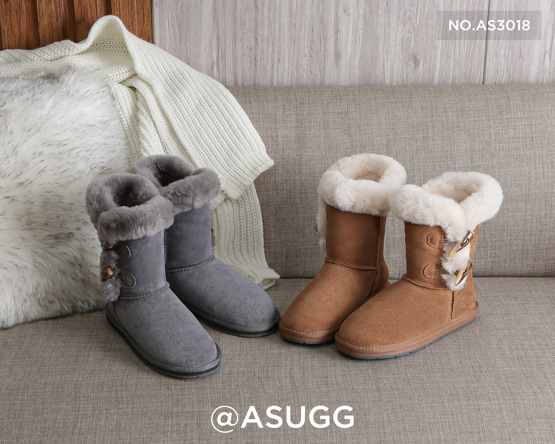 ugg boots with toggles