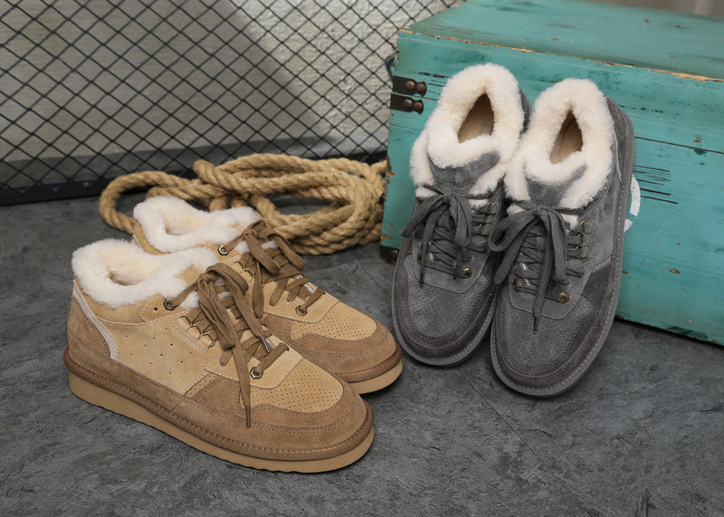 sheepskin lined sneakers