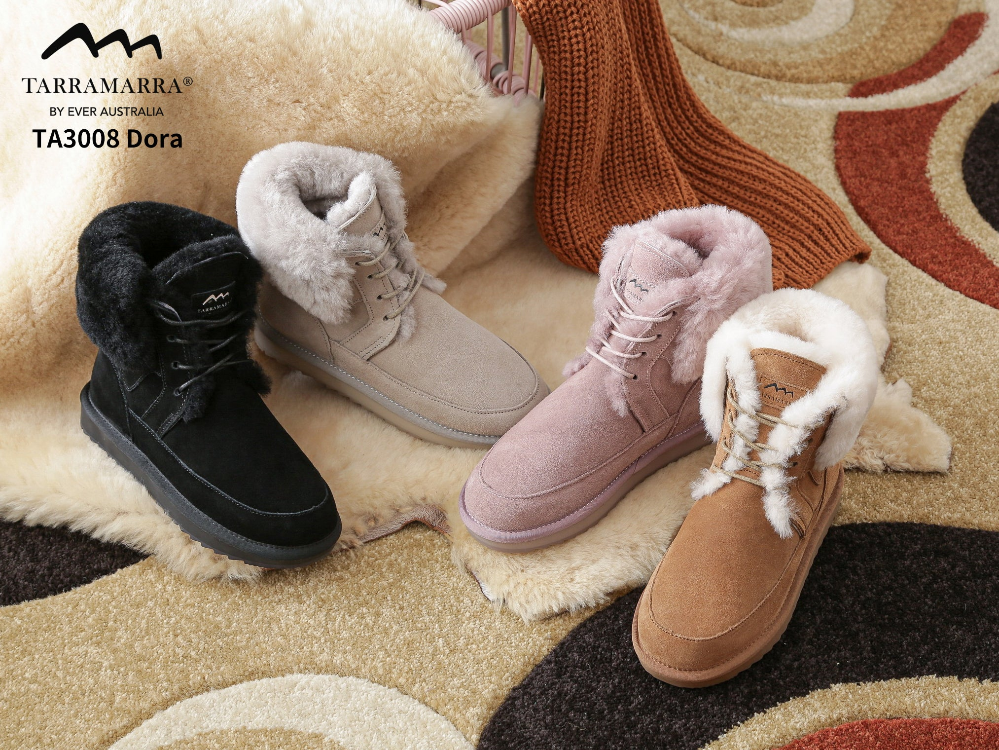 winter boots with wool inside