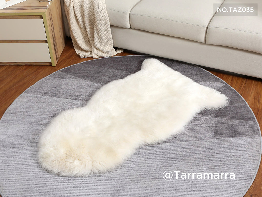sheepskin rug for small living space