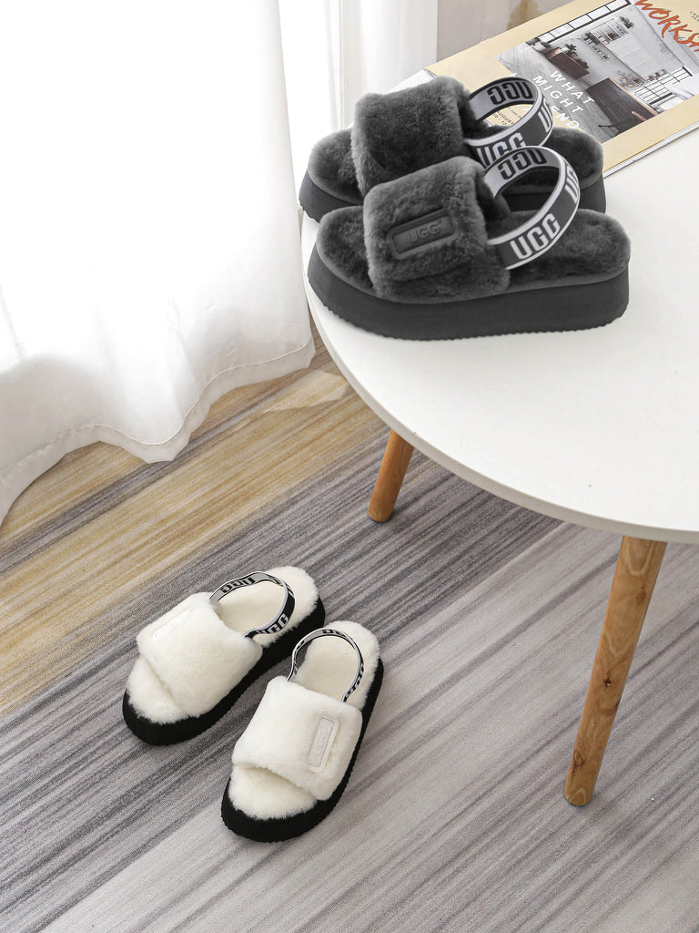 fluffy sandals for mum