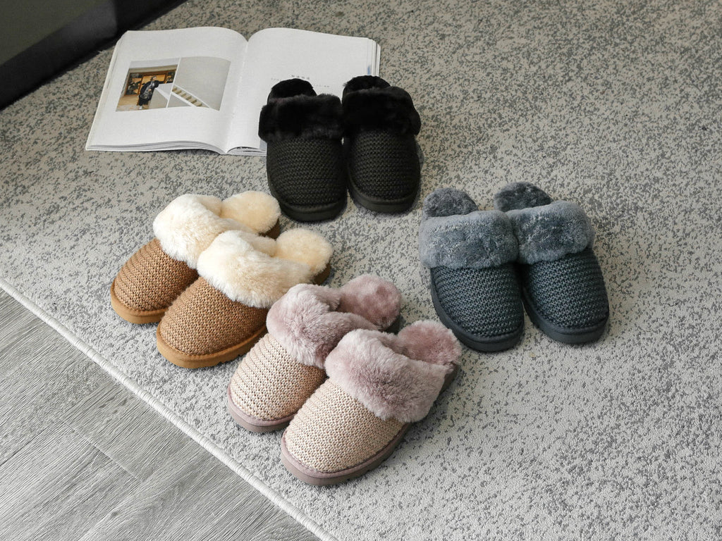 sheeps wool slippers for women