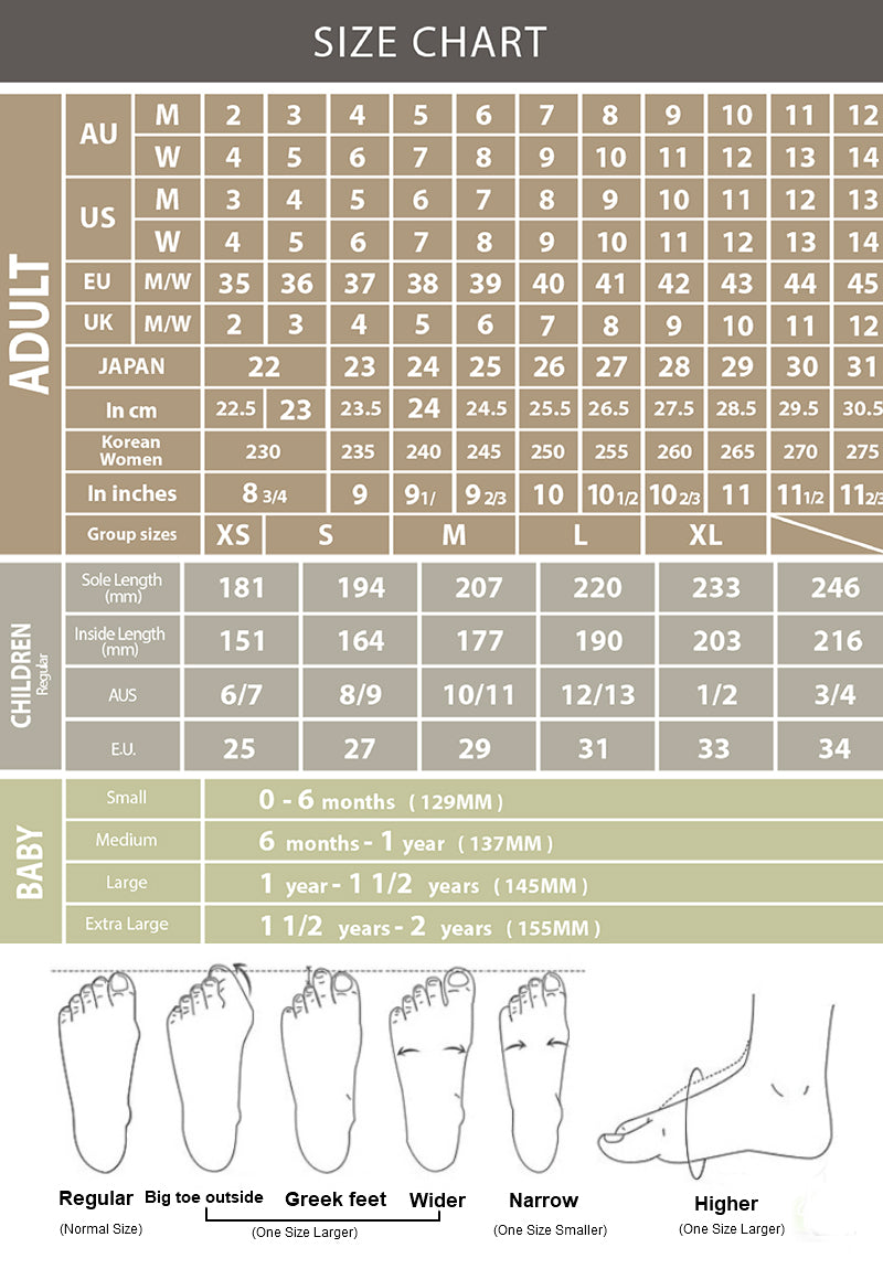 Size Guide Ugg Express