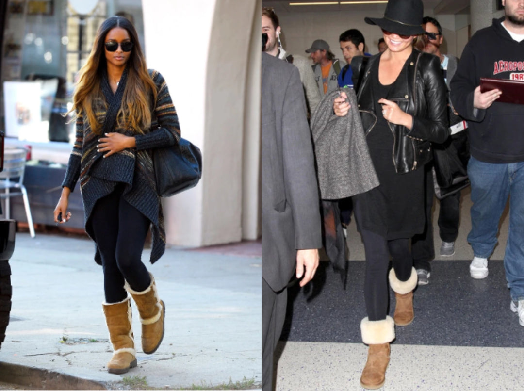 ciara and chrissy teigan wearing ugg boots
