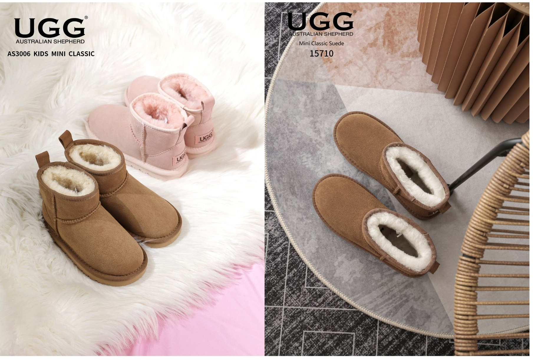 pink matching ugg boots