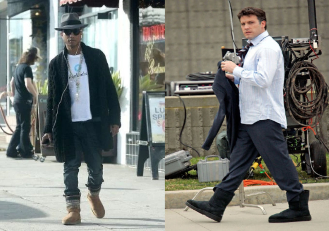 pharrell williams and ben affleck wearing ugg boots