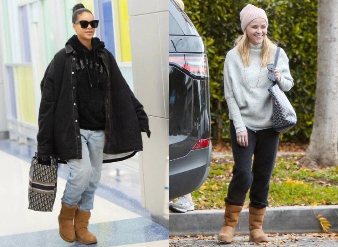 rihanna and reece witherspoon wearing ugg boots
