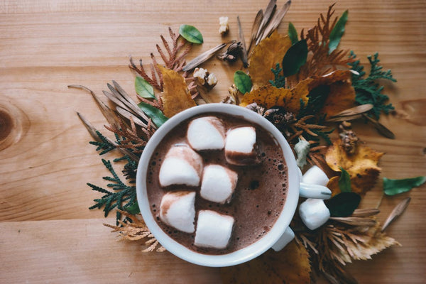 hot chocolate on a winter day