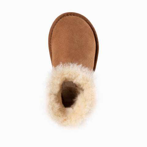 Australian Shepherd Kids UGG Boots  - Child Mini Button, Australian Sheepskin, Non-Slip