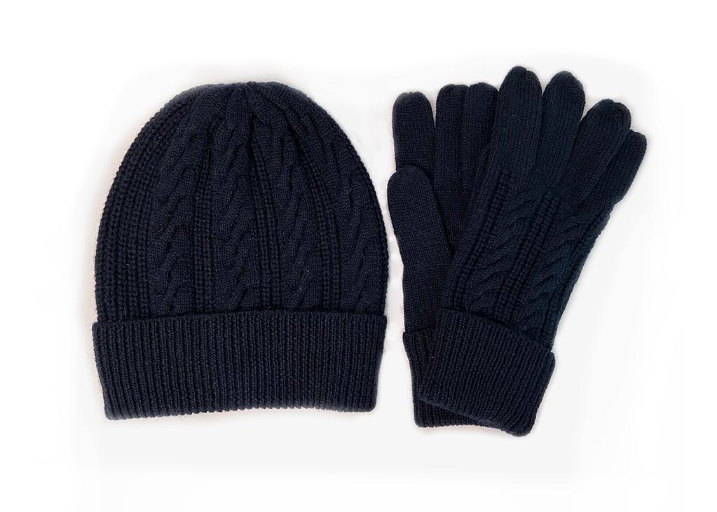 Beanie and Gloves Knitted Gift Pack (4391426850874)