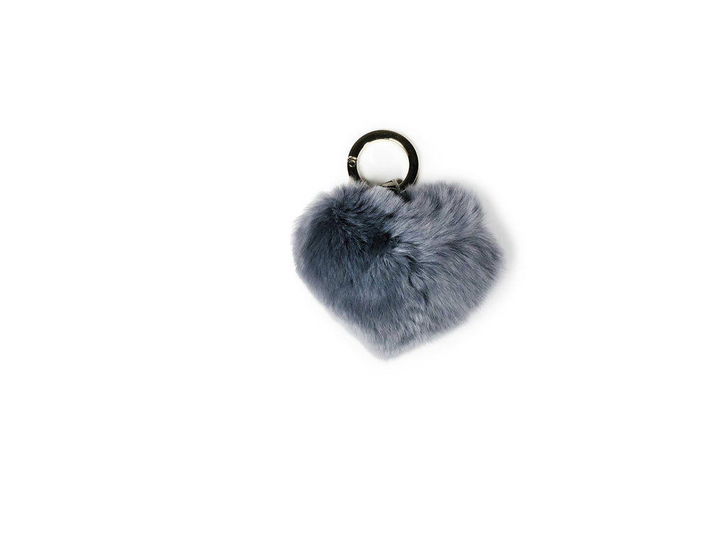 Fluffy Candy Heart Keyring