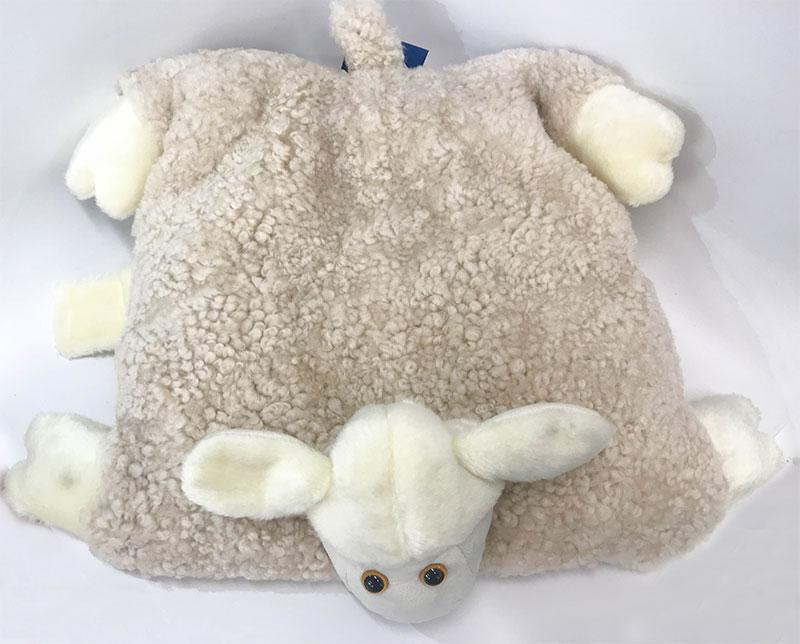 Accessories - UGG Curly Pillow Cozy Sheep Shaped Cushion, Sanitized Wool Toy, Folded To Display (2186091987002)