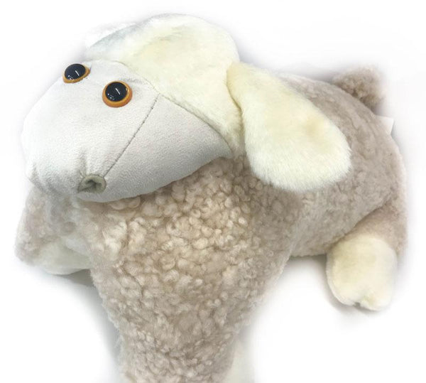 Accessories - UGG Curly Pillow Cozy Sheep Shaped Cushion, Sanitized Wool Toy, Folded To Display