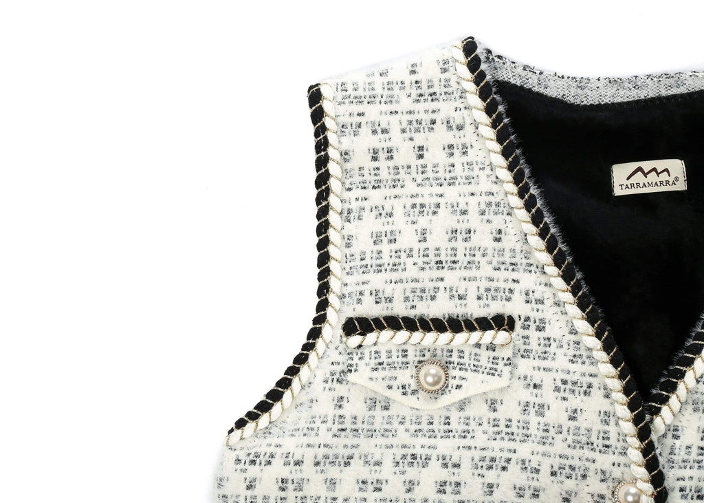 Apparel - Pearl Twist Knitted Vest