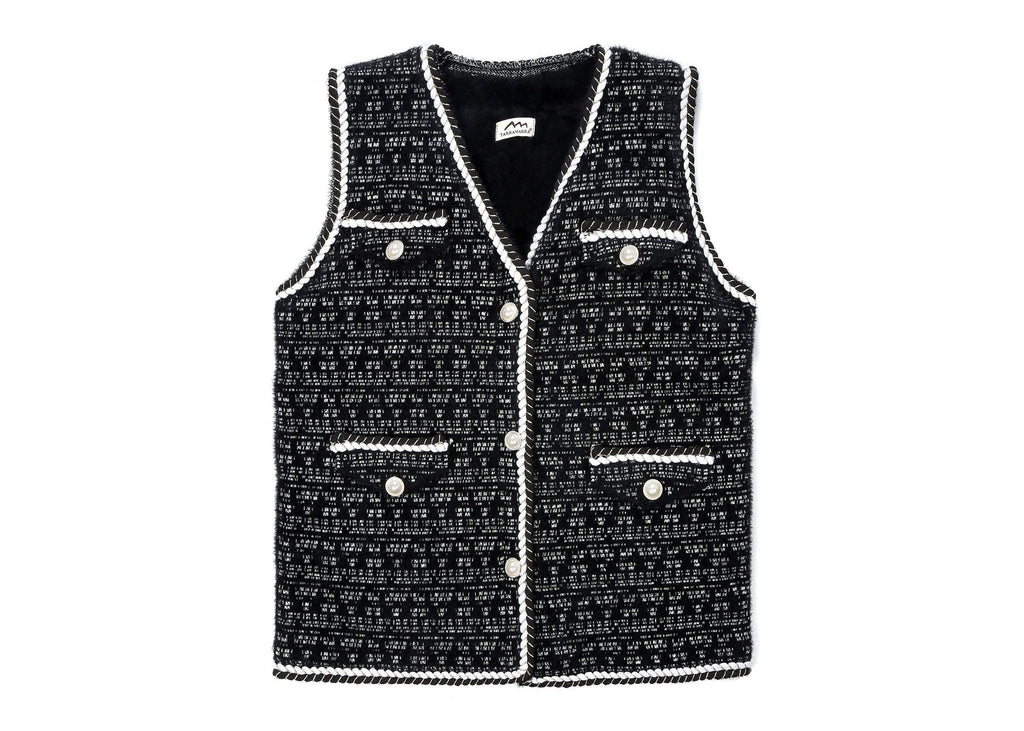 Apparel - TA Women Pearl Twist Knitted Vest