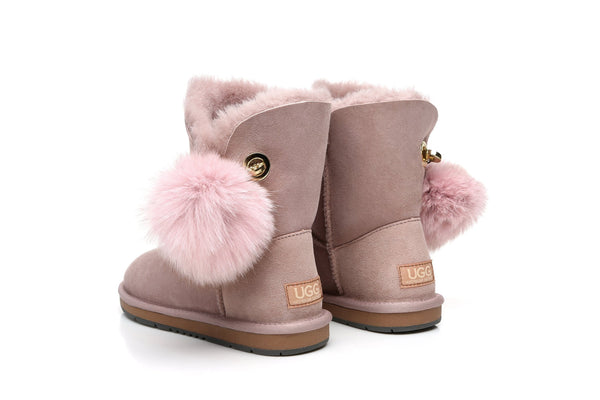Boots - AS UGG Ladies Short Pom Pom Boots Blakely  #15663