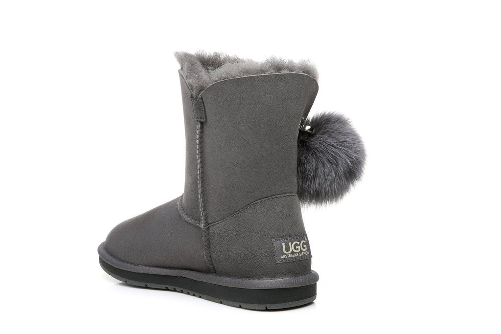 Boots - AS UGG Ladies Short Pom Pom Boots Blakely  #15663 (532849688634)
