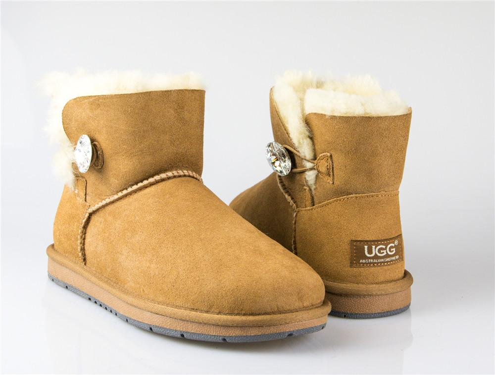Boots - AS UGG Mini Button Boots With Crystal #15702- Clearance Sale (1321727623226)
