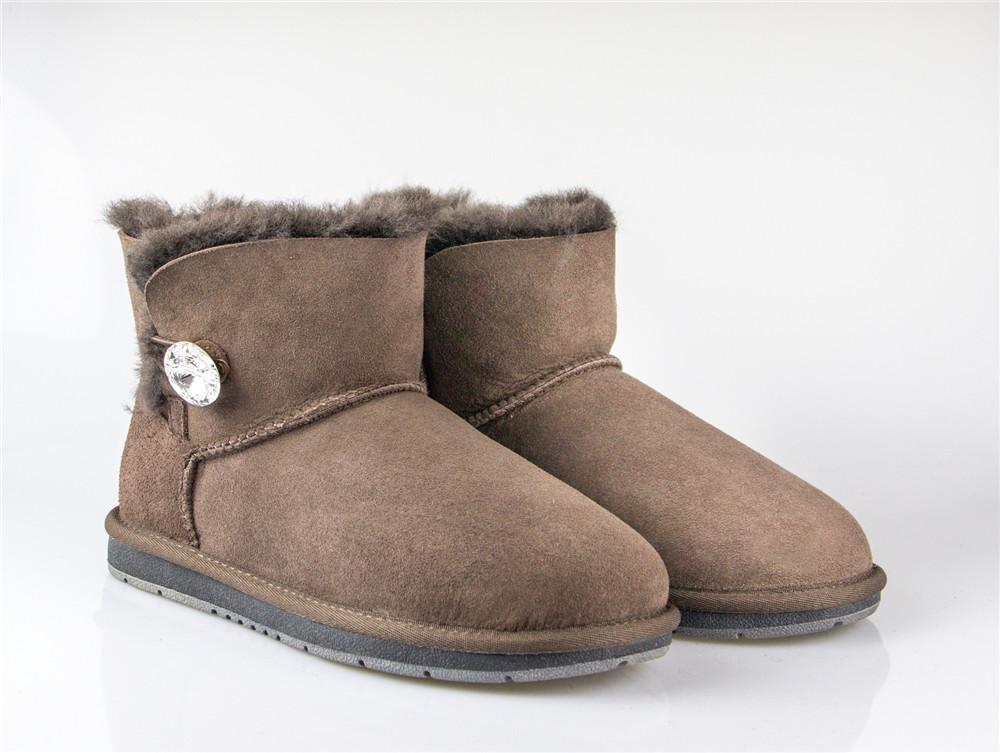 Boots - AS UGG Mini Button Boots With Crystal #15702- Clearance Sale