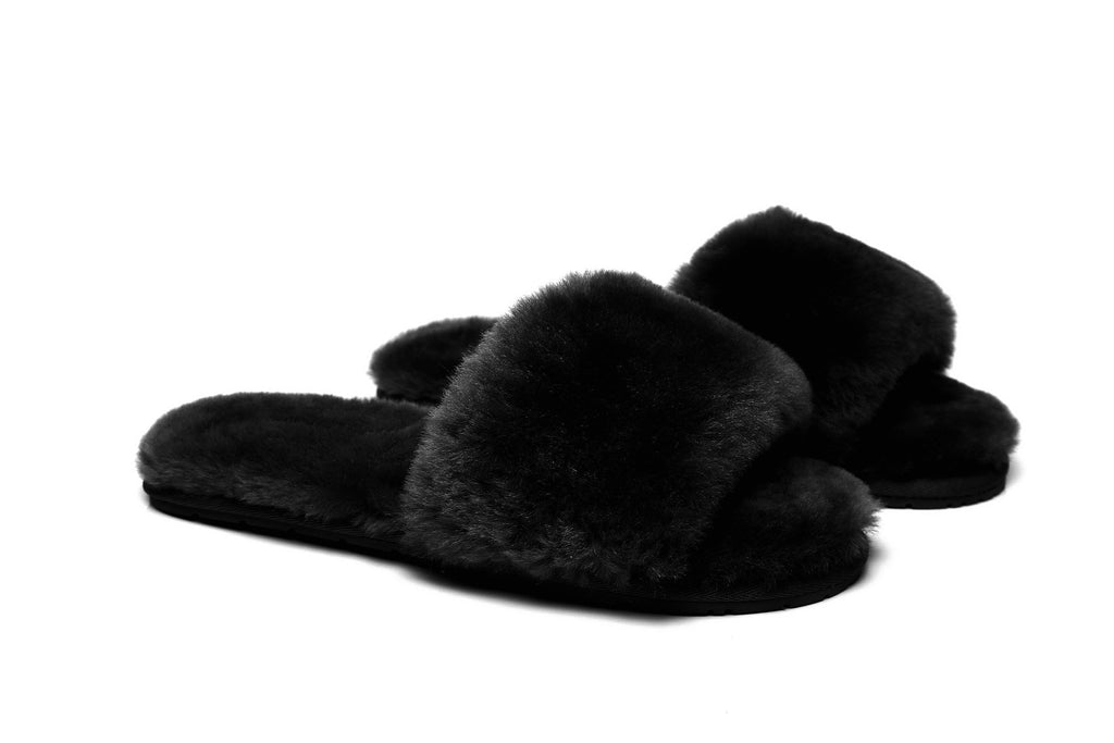 Boots - AS UGG Slipper Fluffy Slides Nala