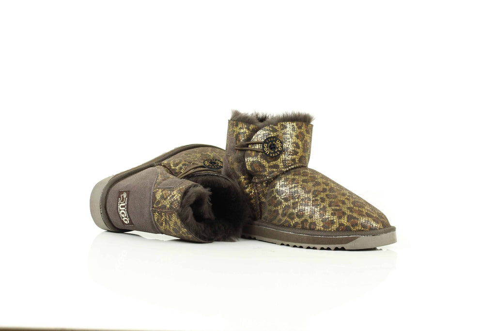 Boots - Australian Made Mini Button Urban Jungle UGG Boots #12770