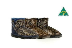 Australian Made Mini button urban jungle UGG Boots #12770-Clearance