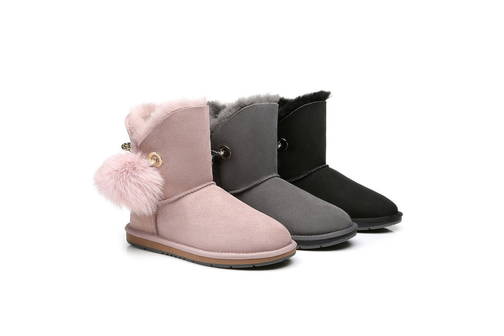 Australian Shepherd UGG Boots Ladies Short Pom Pom Blakely  #15663 (532849688634)