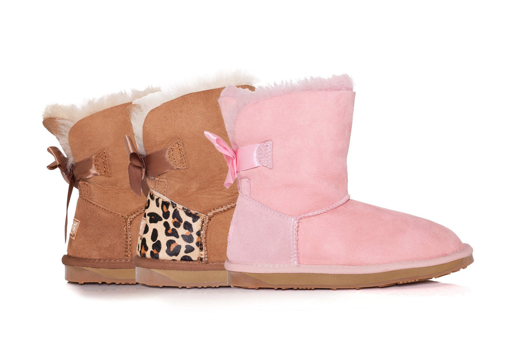 Ever UGG Kids Mini Boots with Bailey Bow (526824865850)