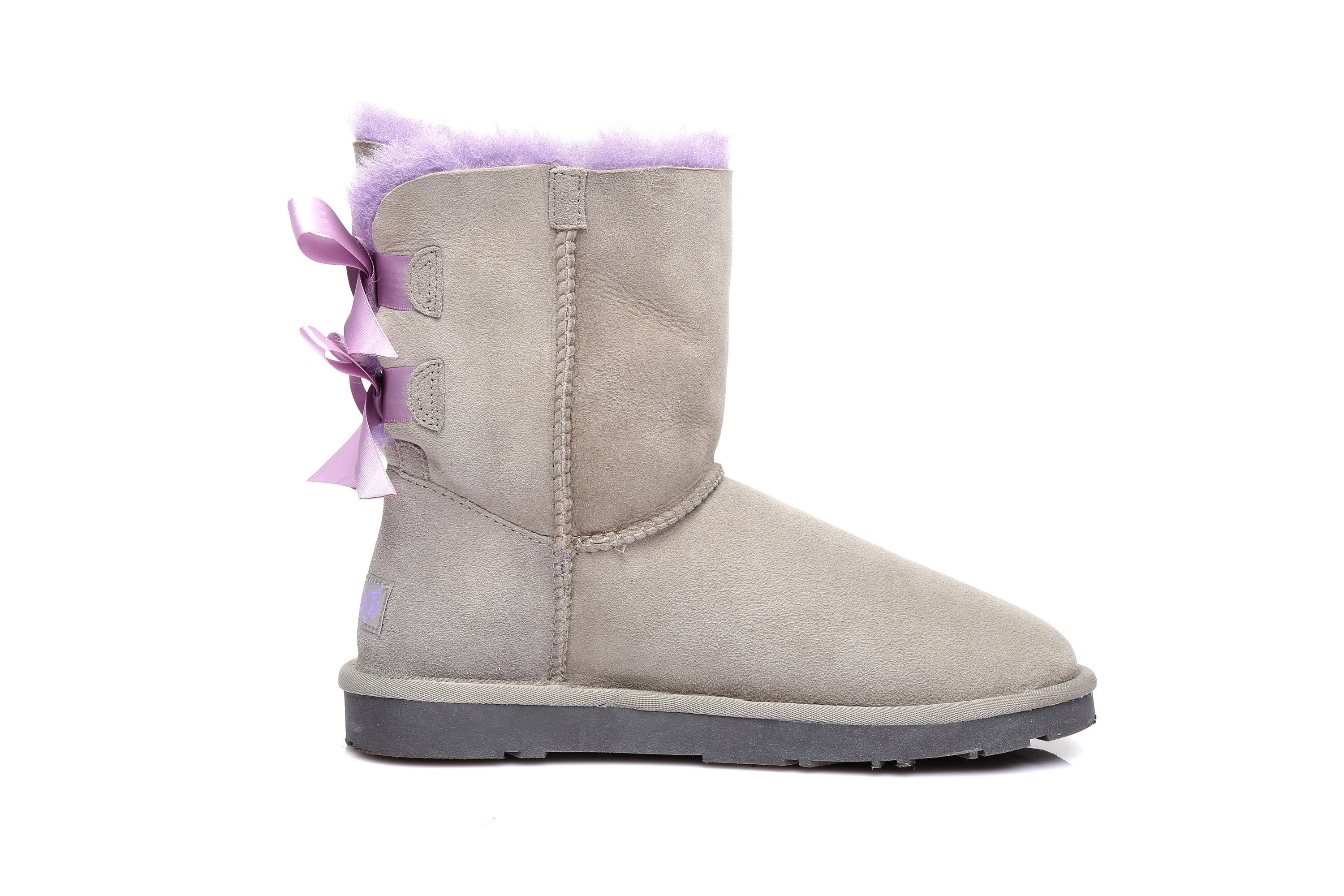 UGG Women's classic boots Bailey Bow II Boot. Color: Grey, Size: 40