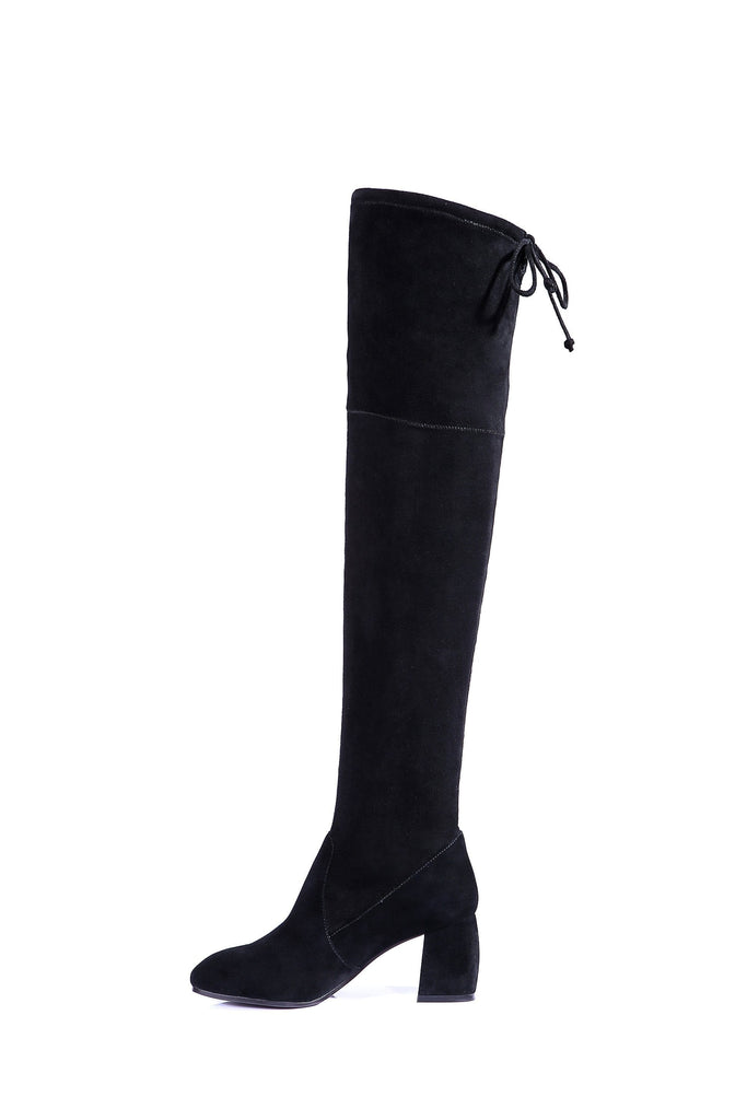 Boots - Ever UGG Ladies Fashion Heeled Over The Knee Tall Boots Selina #211000 (1418729390138)