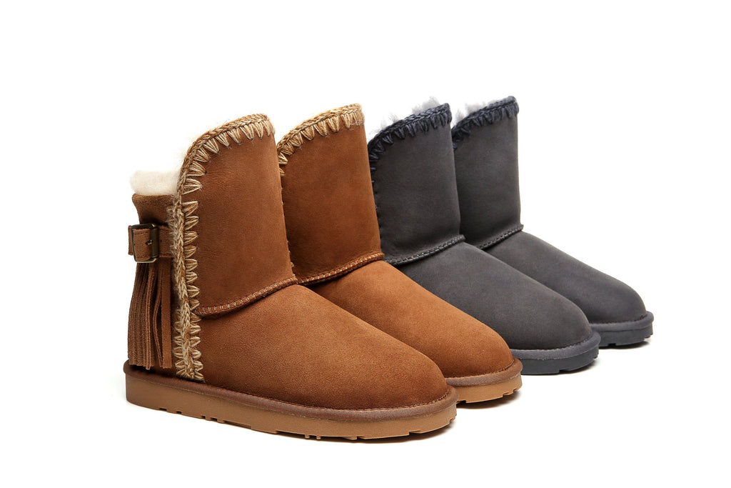 Ever UGG Ladies Short Boots Hannah #111007 (1878337093690)